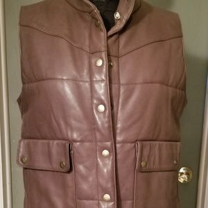 Pasha & Jo New York leather vest sz L